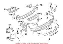 For Bmw Genuine Liftgate Object Sensor Rear Right 66326873289