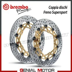 Paire Disques Frein Brembo Racing Supersport Pour Ducati 916 Ø320 1994 1998