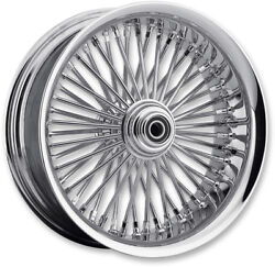 Chrome 50 Fat Daddy Spoke 23 3.75 Front Wheel Rim Harley Touring 08-19 Abs Sd