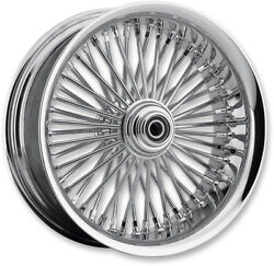 Chrome 50 Fat Daddy Spoke 23 3.75 Front Wheel Rim Harley Touring 08-19 Nabs Sd