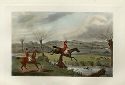 Fox Hunter And Horse Take A Spill In The Creek Foxhounds Running After Fox Hunt