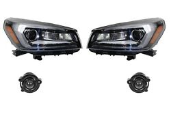 Left And Right Genuine Headlights Headlamps W/ Fog Lights Kit For Acadia No Hid Gm