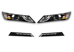 Left Right Genuine Headlights Headlamps Fog Lights Kit For Impala With Hid Gm