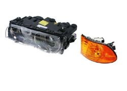 Front Driver Left Genuine Headlight Lamp & Turn Signal with Yellow Lens For E38