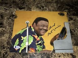 Fats Domino Rare Authentic Signed Autographed Photo New Orleans Jazz Beckett Coa