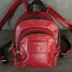 New Marc By Marc Jacobs Women's Designer Leather Back Pack Flight Bag Purse