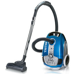 Prolux Tritan Canister Vacuum Cleaner Lightweight Multi Speed W/ Hepa Filtration