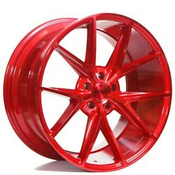 Set4 20 Niche M186 Misano Gloss Red Wheels And Tires