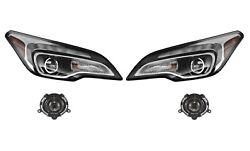 Left And Right Genuine Headlights Headlamps No Hid And Fog Lights Kit For Buck Gm