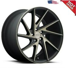 4rims 20 Staggered Niche M163 Invert Black Machined Wheels And Tires