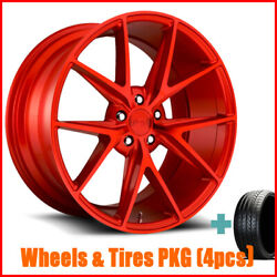 4rims 20 Staggered Niche M186 Misano Gloss Red Wheels And Tires