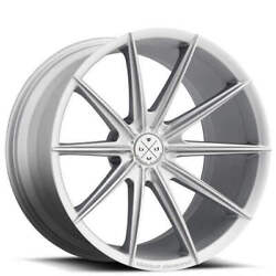 19 Staggered Wheels And Tires Blaque Diamond Bd-11 Frozen Silver