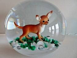 MAGNUM Gibson Art Glass SULFIDE DOG Paperweight Large CHIHUAHUA TERRIER