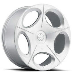 20 Wheels And Tires Blaque Diamond Bd-77 Silver Brushed
