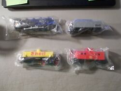Vintage 1985 Shell Promotional Train 4 Pieces Engine , Tender , Tanker And Caboose