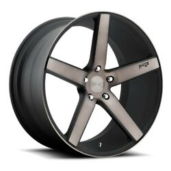 Qty4 19 Niche M134 Milan Black Machined Wheels And Tires
