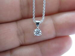 Hearts On Fire Round Diamond Solitaire 3-prong Pendant Necklace .33ct H-vs2 18