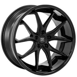 Qty4 20 Staggered Wheels And Tires Lexani R-twelve Satin Black Center