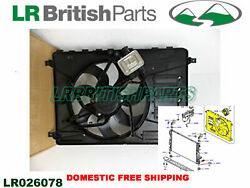 Land Rover Fan And Motor For Cars With Control Module Lr2 New Lr026078 Vdo