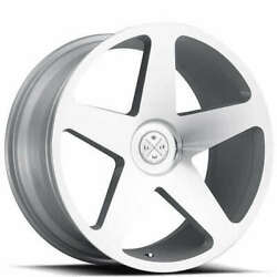 4/set 20 Wheels And Tires Blaque Diamond Bd-15 Silver Machined