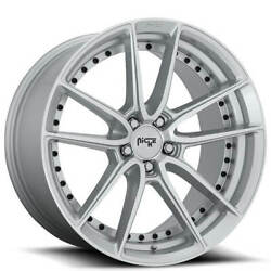4/set 19 Staggered Niche M221 Dfs Silver Machined Wheels And Tires