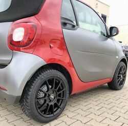 Msw 85 Alloy Wheels Smart Fortwo 453 Winter Tyre Continental 16 Inch Black By Oz