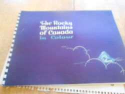ANTIQUE BEAUTIFUL PICTURE BROUCHUREBOOK ROCKY MTS OF CANADA