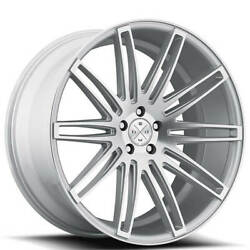 4/set 20 Wheels And Tires Blaque Diamond Bd-2 Silver Machined