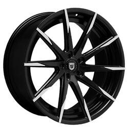 4/set 20 Staggered Wheels And Tires Lexani Css-15 Black W Machined Tips