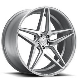 4/set 20 Wheels And Tires Blaque Diamond Bd-8 Silver With Polished