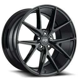 4/set 20 Staggered Niche M119 Misano Black Wheels And Tires