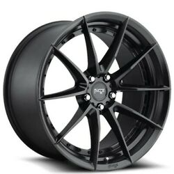 4/set 20 Staggered Niche M196 Sector Matte Black Wheels And Tires