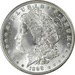1888 Morgan Dollar Bu Uncirculated Mint State 90 Silver 1 Us Coin Collectible