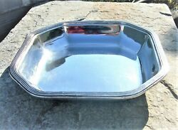 Vintage Silver Plated Octagonal Platter Gense Extra For Swedish American Line