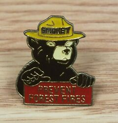 Unbranded 1 Inch Collectible Smokey The Bear Prevent Forest Fires Pin Read