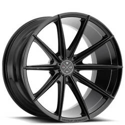 4new 19 Staggered Wheels And Tires Blaque Diamond Bd-11 Gloss Black