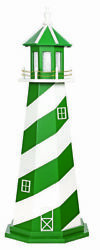 New York Jets Lighthouse - Ny Nj Football Green And White Working Light Amish Usa
