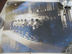 vtg Phone Switchboard Operator Photo telephone company women at work old antique