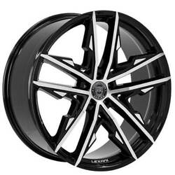 4new 20 Staggered Wheels And Tires Lexani Venom Gloss Black Machined