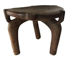 African Old Carved Wood Milk Stool Hehe Gogo People Tanzania 14 H By 18 D