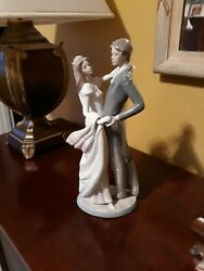 I Love You Truly Wedding Figurine Bride And Groom By Lladro Porcelain 1528