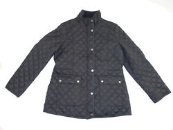 Lucky Brand Womenand039s Quilted Barn Jacket Size Large Nwt Black Zipper Front L