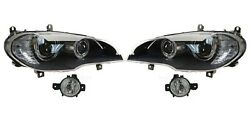Left And Right Genuine Fog And Ahl Bi-xenon Adaptive Headlights Kit For Bmw E70 X5