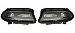 Left And Right Genuine Headlights Headlamps Hid Pair Set For Dodge Charger 15-18