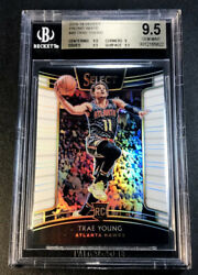 Trae Young 2018 Panini Select 45 Prizm White Refractor Rookie Rc /149 Bgs 9.5