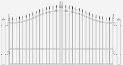Inc Post Package Driveway Entry Gate 11 Ft WD DS Swing Residential Home Security