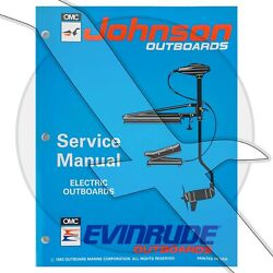Johnson Evinrude 1994 Trolling Motor Oem Shop Factory Repair Service Manual