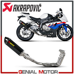 Full System Exhaust Carbon Akrapovic Racing Line For Bmw S1000rr 2010 2014