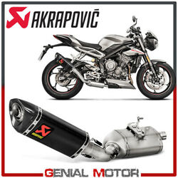 Exhaust Carbon Muffler Akrapovic For Triumph Street Triple 765 Rs 2017 2019