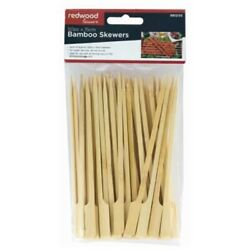 Bamboo Skewers 50 Pack 15cm For Bbq Grill Kebabs Koftas Satay Cooking Camping